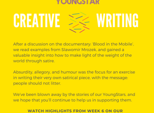 CREATIVE WRITING  - Week 6 - 11-16 years
