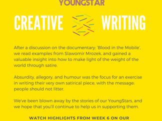 CREATIVE WRITING  - Week 6 - 11-16 years