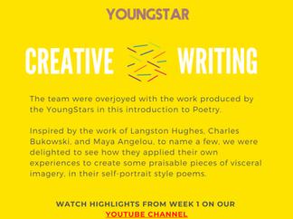 CREATIVE WRITING - Week 1-  11-16 years