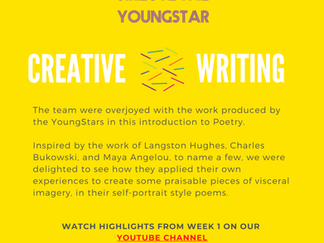 CREATIVE WRITING - Week 1-  11-16 years