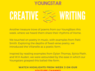 CREATIVE WRITING - Week 3 - 11-16 years