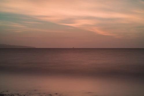 Prestwick Beach at Sunset Long Exposure Print