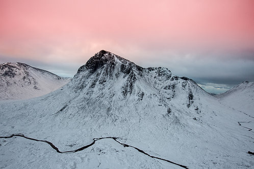 Buachaille Etive Mor Winter Sunrise Print