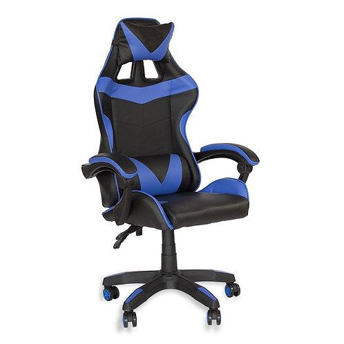 Fotel czarno - niebieski  biurowy gamingowy ekoskóra