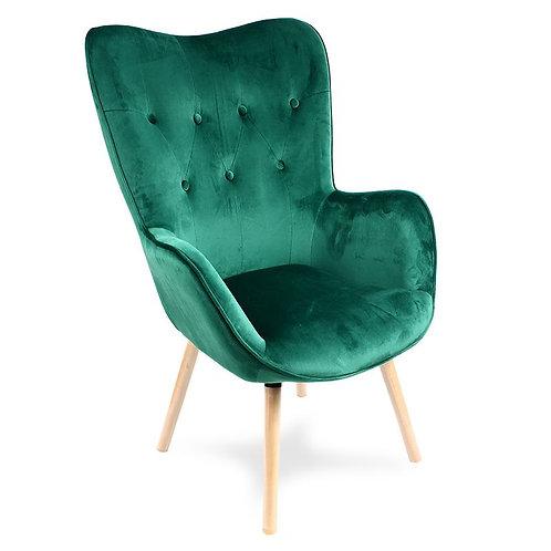 Fotel Uszak Zielony ciemny 33