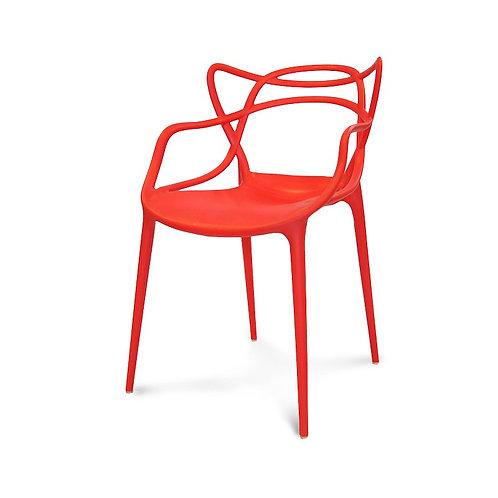 Krzesło czerwone  ażurowe  Organic 8