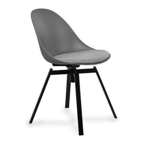 Krzesło szare obrotowe z poduszką