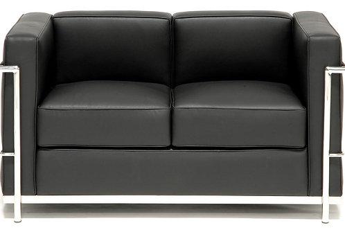 Sofa z naturalnej skóry - LeCorbusier 2os.