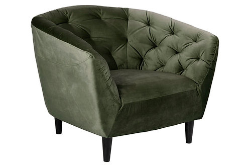 Fotel pikowany Amelia zielony
