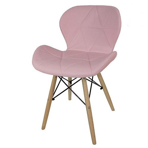 Krzesło różowe z ekoskóry  Samanta 332