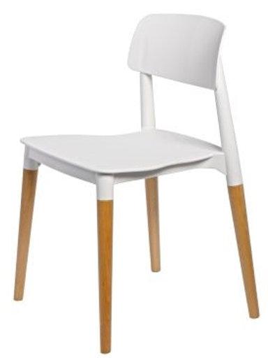 Krzesło Bianka  - białe i czarne