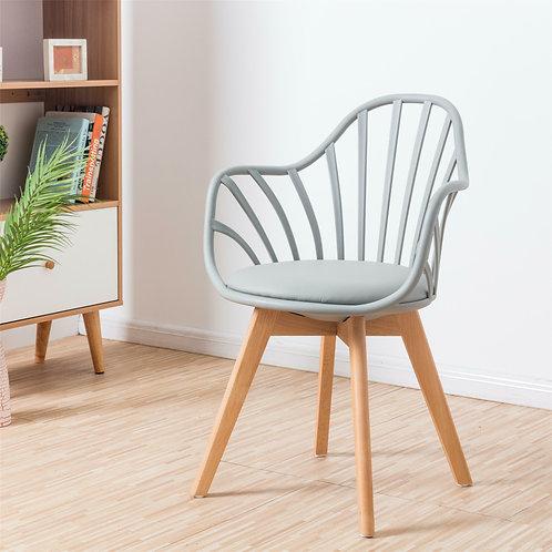 Krzesło szare ażurowe Ariel 21