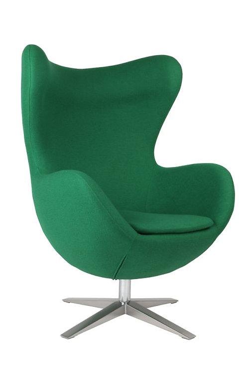 Fotel Arne Egg - wełna zielony