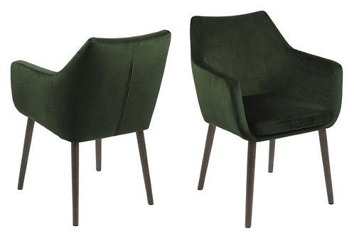 Fotel welurowy  Dante zielony