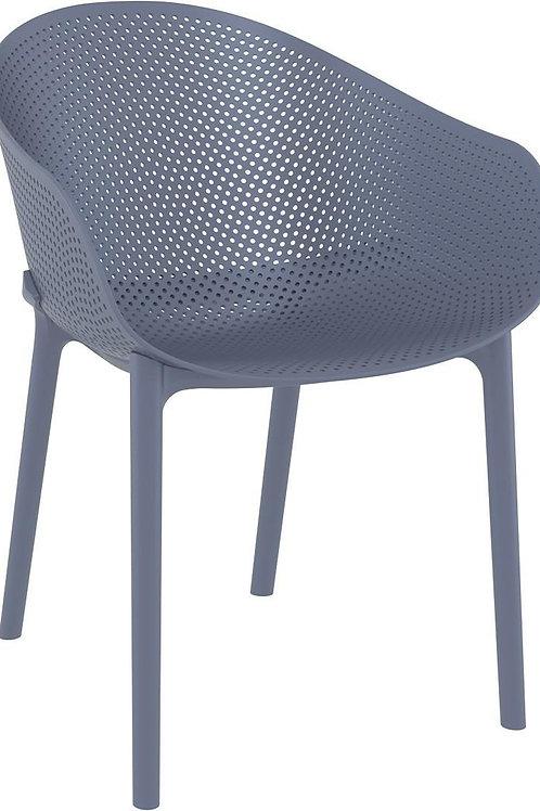 Krzesło ażurowe szare  Farel 22