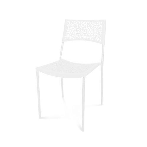 Krzesło białe ażurowe 111
