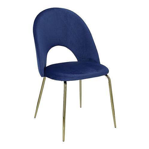 Krzesło niebieskie  Aurelia 3 welur