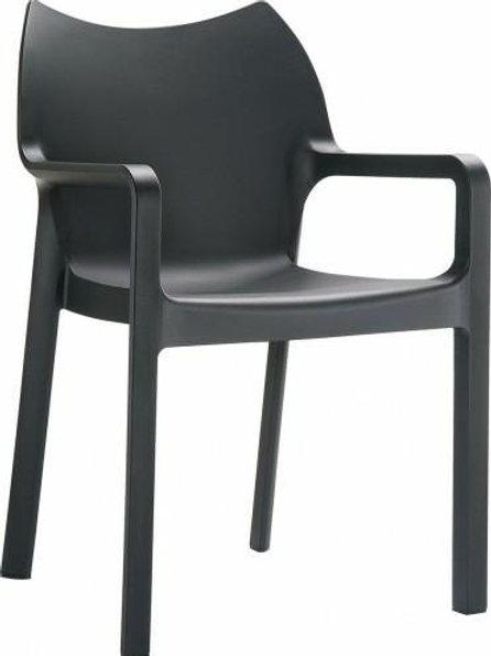 Krzesło ogrodowe czarne Malta 28