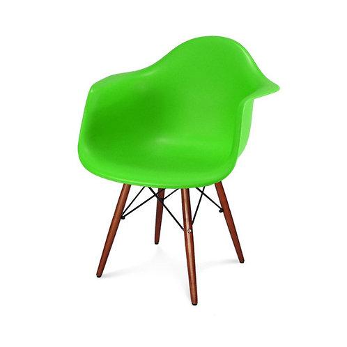 Krzesło zielone Big Charls  z ciemnymi nogami