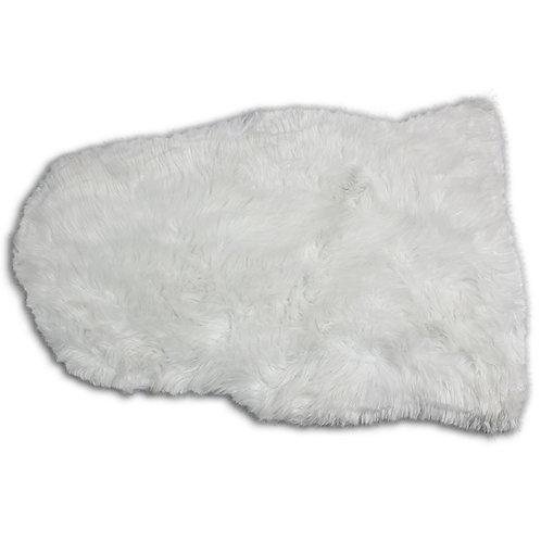 Białe futerko - dywanik 90x65 cm