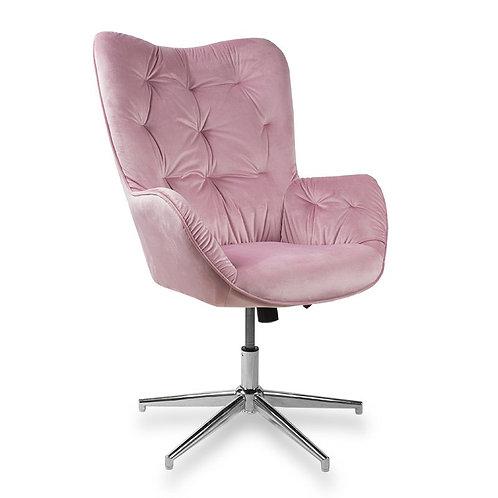 Fotel obrotowy z weluru różowy  Letycja 24
