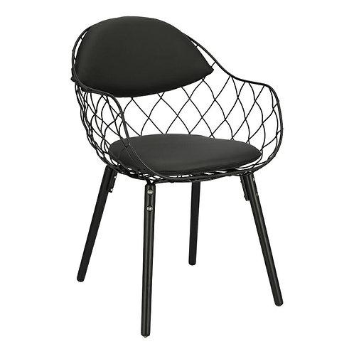 Krzesło czarne Elza eko skóra