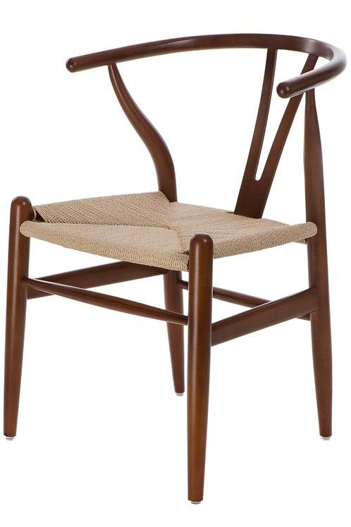 Brązowe krzesło  drewniane Luis 55