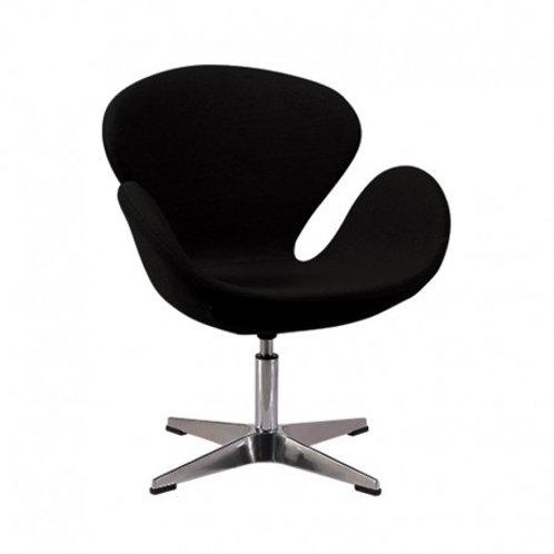 Czarny fotel  Tulip chrom 33