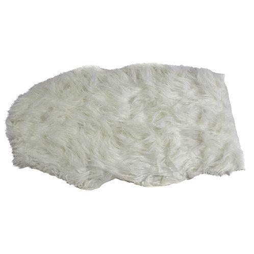 Białe futerko - dywanik