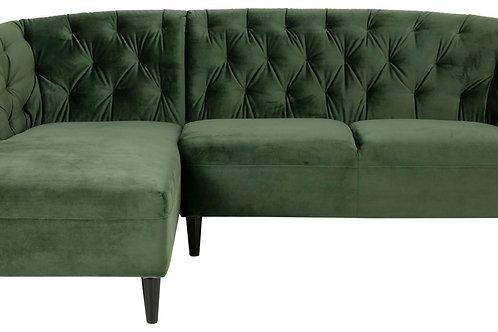 Sofa Amelia narożna zielona  222