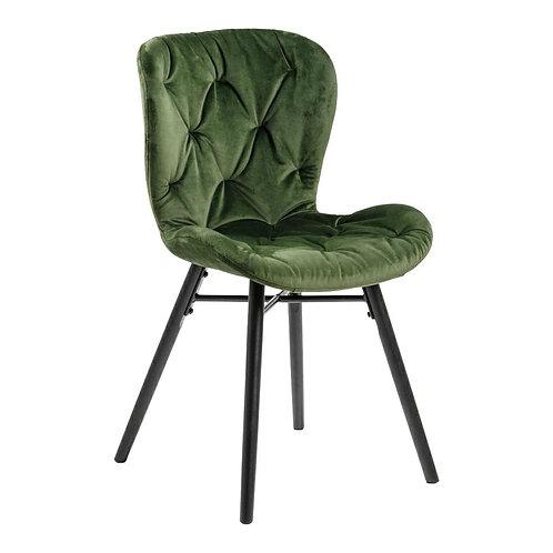 Krzesło pikowane welurowe  zielone  Nela  14