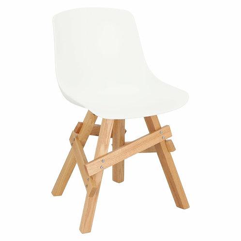 Krzesło drewniane  białe  dębowe Vesuvio 55