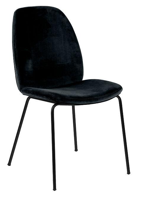 Krzesło czarne welurowe Ares 1