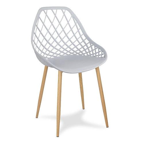 Krzesło szare na metalowych jasnych nogach Jelena 4
