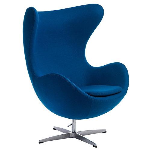Fotel EGG niebieski kaszmir  Premium