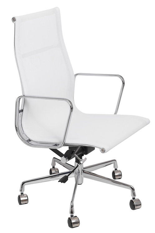 Fotel biurowy - biała siatka