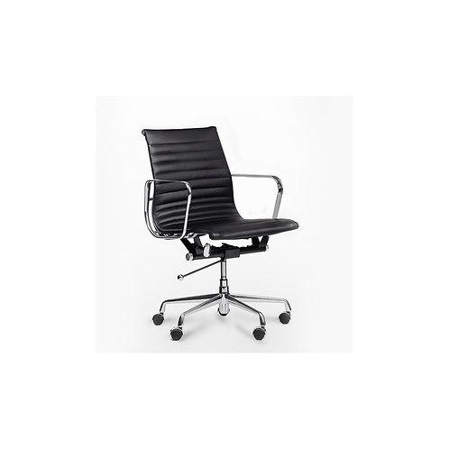 Fotel biurowy ze skóry czarny  Artur 11