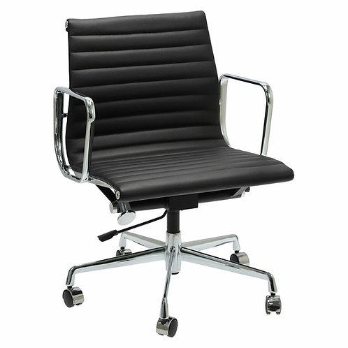 Designerski fotel biurowy  Jowisz - skóra, chrom
