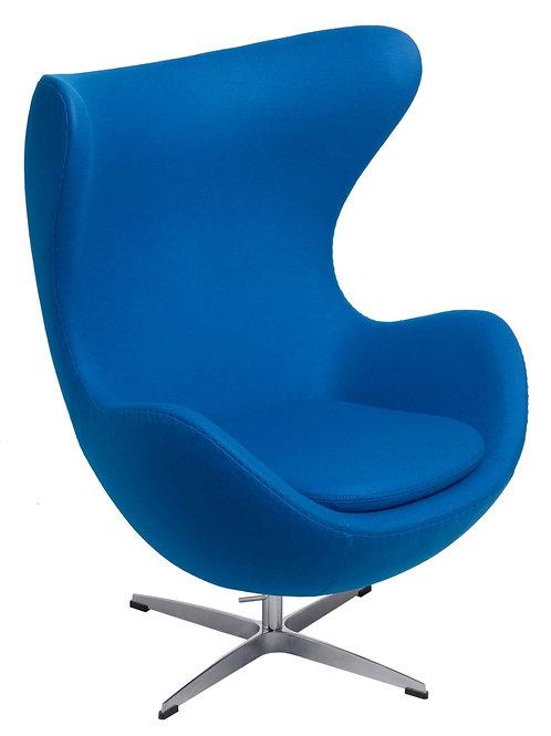 Fotel  Egg - niebieski kaszmir - Premium