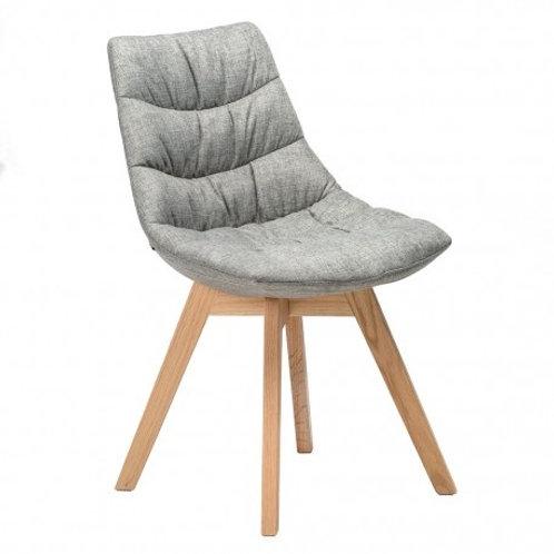 Krzesło szare tapicerowane Melinda