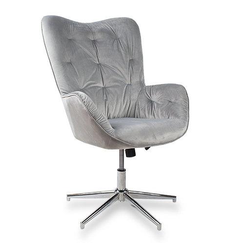 Fotel obrotowy z weluru  szary Letycja 28