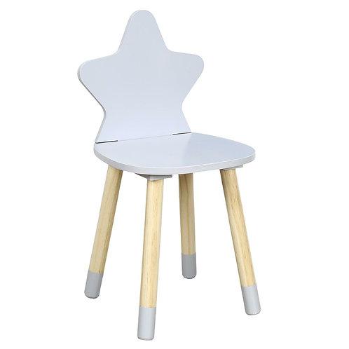 Krzesło szare dziecięce Star