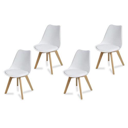 Zestaw czterech krzeseł Artino