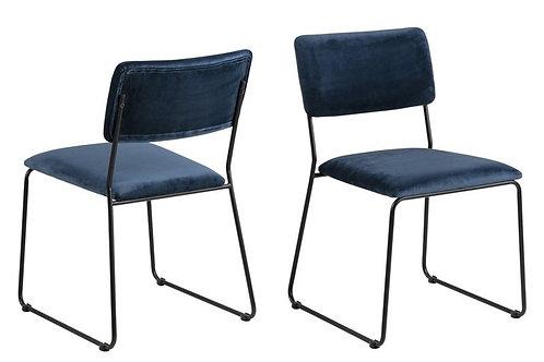 Krzesło welurowe Mantis
