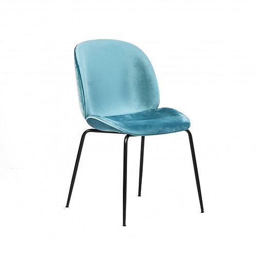 Krzesło welurowe niebieskie
