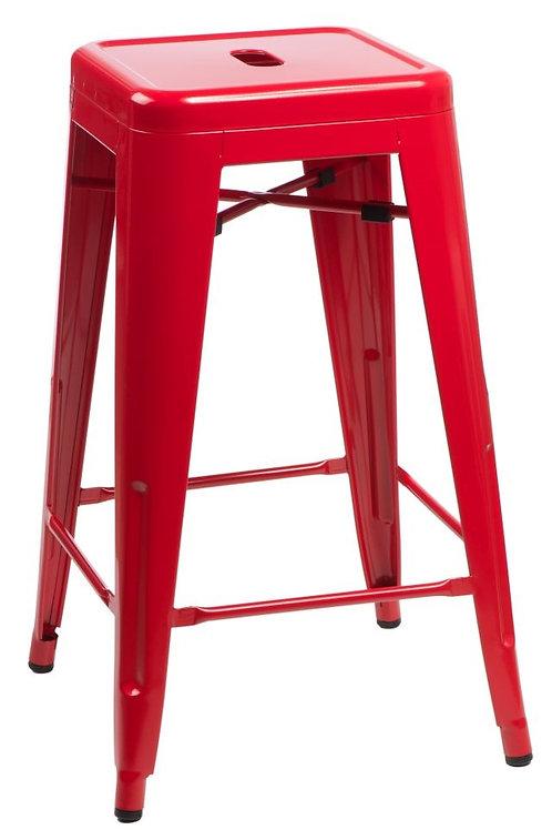 Designerski czerwony Hoker  Andre