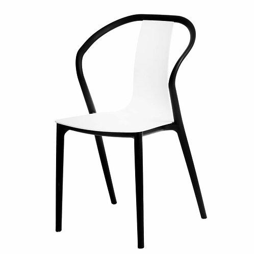 Krzesło  Baleria  czarne/białe