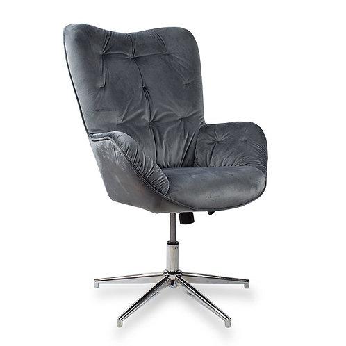 Fotel obrotowy z weluru ciemny  szary Letycja 28