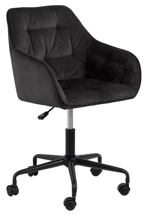 Fotel czarny biurowy welurowy  S  2442