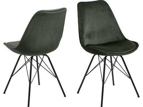 Krzesło velurowe Amanda 33 zielone